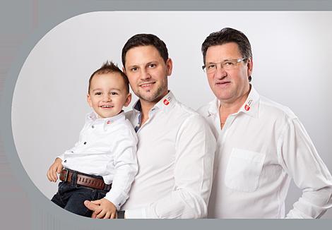 Luca, Roger und Willi Schärli
